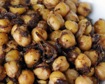 Spiced Chickpeas with Dried Pomegranate Seeds
