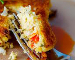 Spicy Crab Cakes with Roasted Red Pepper Dip