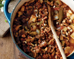 Spicy Sausage and Black-Eyed Pea Chili