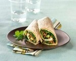 Spinach and Avocado Egg White Omelet Wrap With All-Bran cereal