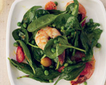 Spinach and Shrimp Salad with Chile Dressing