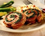 Spinach and Flank Steak Pinwheels