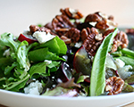 Spinach Salad with Pure Maple Syrup Dressing