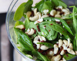 Spinach, Sundried Tomato and Roasted Cashew Salad