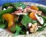 Spinach Salad with Red Onion, Bacon, and Mandarin Oranges