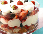 Strawberry and Cake Trifle in a Snap