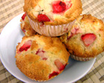 Strawberry Tea Muffins