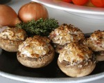 Ham Stuffed Mushrooms
