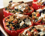 Quinoa-stuffed red peppers