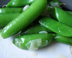 Sugar Snap Peas with Shallots