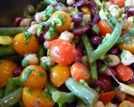 Summer Bean Salad with Cherry Tomatoes