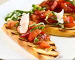 Sweet pepper bruschetta