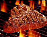 T-Bone Steak with Caramelized Crust