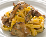 Tagliatelle with Wild Mushrooms, Garlic & Thyme
