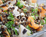 Tangerine, Hazelnut and Wild Rice Salad with Chicken