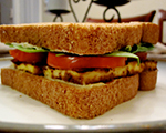 Tofu, Lettuce and Tomato Sandwich