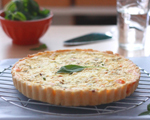 Tomato and Goat Cheese Quiche
