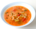 Mediterranean Tomato Soup with Rice