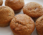 Triple Wheat and Honey Muffins