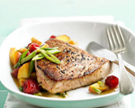Tuna Steaks with Fruit Salsa