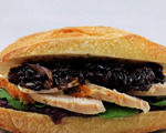 Gluten-Free Turkey Sandwich with Blackberries and Honey