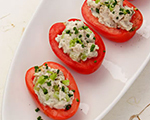 Two Minute Tomatoes Stuffed with Chicken Salad