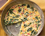 Low-fat veggie and cheddar cheese frittata