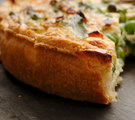 Kale and Toasted Almond Quiche