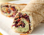 Vegetarian Avocado and White Bean Pita Wrap