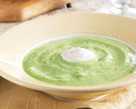 Warm Avocado Soup with Chipotle Cream