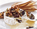Warm Camembert Cheese Smothered in Wild Mushrooms