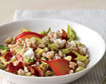 Warm Farro Salad with Goat Cheese