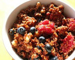 Warm Quinoa with Bananas and Berries