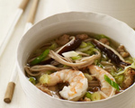 Warm Soba with Pork, Shrimp and Cabbage