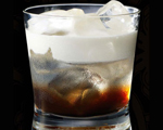 White Russian Cocktail with Fresh Cream