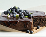 Whole Wheat Chocolate-Blueberry Cake