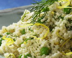 Whole Wheat Couscous with Parmesan & Peas
