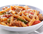 Quick and Zesty Penne, Sausage and Peppers