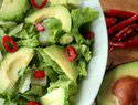 Avocado and chilli salad