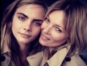 Kate Moss takes mini-me Cara Delevingne under her wing