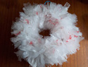DIY recycled plastic bag Christmas wreath