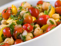 A quick, healthy, chickpea salad