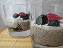 Coconut and berry chia pudding