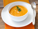 Creamy carrot soup for a cold day