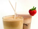 Homemade coffee frappe