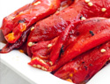 Homemade roasted red peppers and how to use them