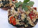 Meatless Monday: Quinoa-stuffed portobello mushrooms