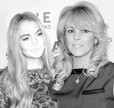 Lindsay Lohan and Dina Lohan