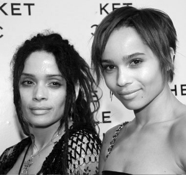 Lisa Bonet and Zoe Kravitz