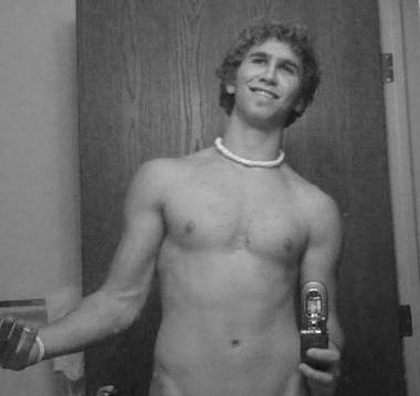 Shirtless poser
